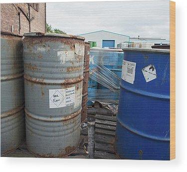 Toxic Waste Wood Prints