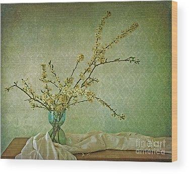 Flowering Plant Wood Prints