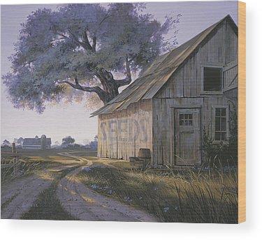 Magic Hour Paintings Wood Prints