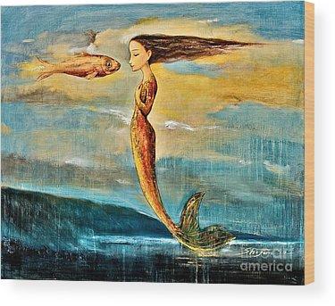 Fantasy Paintings Wood Prints