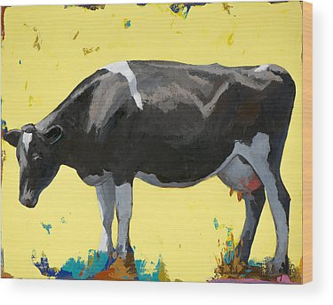 Cow Art Wood Prints