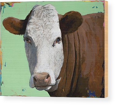 Cow Wood Prints