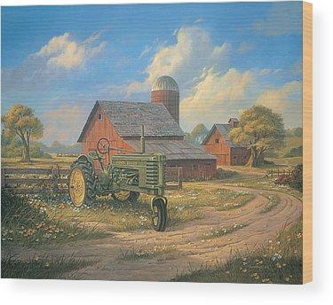 Tractor Wood Prints