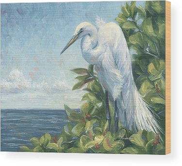 Egrets Wood Prints