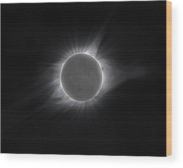 Solar Corona Wood Prints