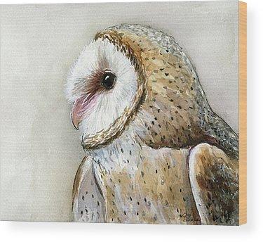 Owl Art Wood Prints