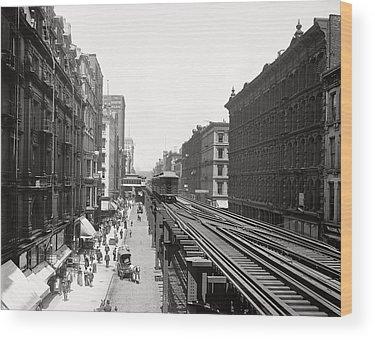 Wabash Avenue Wood Prints