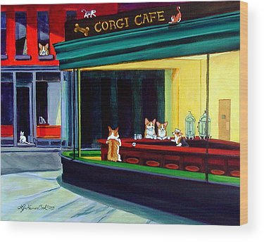 City Cafe Wood Prints