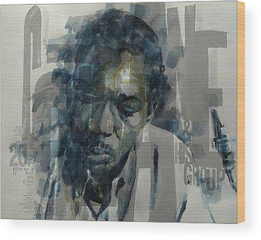 John Coltrane Wood Prints