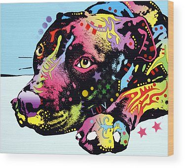 Colorful Dog Wood Prints