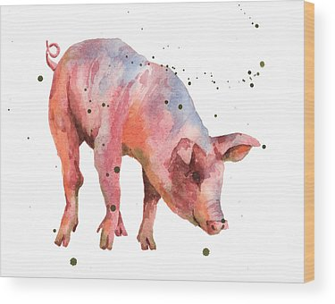 Pig Wood Prints
