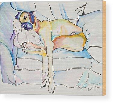 Watercolor Pet Portraits Wood Prints