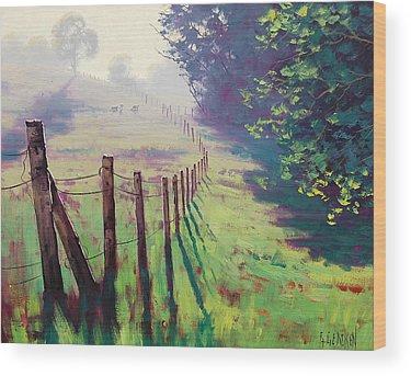 Foggy Wood Prints