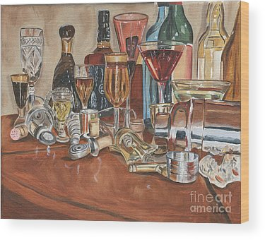 Drink Mixer Wood Prints