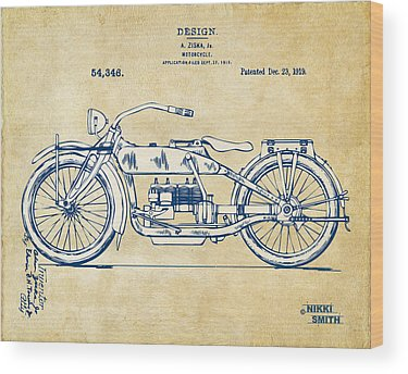 Motorcycle Wood Prints