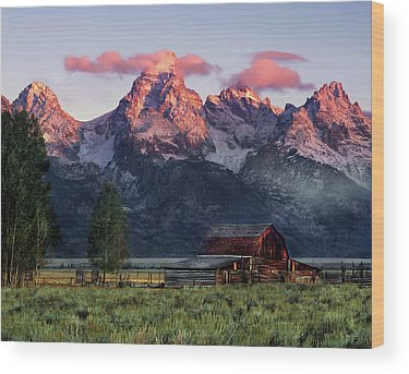 Tetons Wood Prints