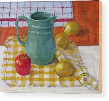 Checkered Tablecloth Wood Prints