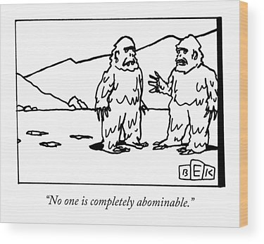 Abominable Snowman Wood Prints