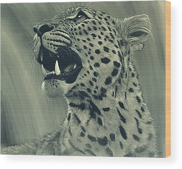 Leopard Art Wood Prints