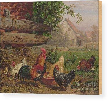 Farm Yards Wood Prints
