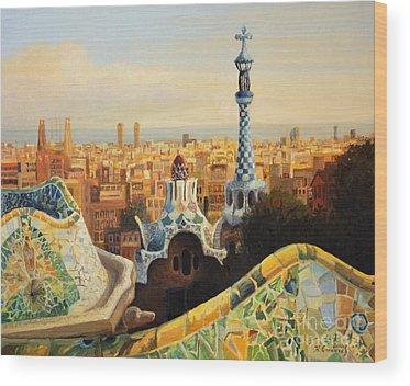 Barcelona Wood Prints