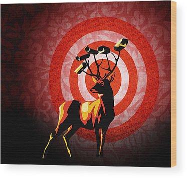 Reindeer Wood Prints