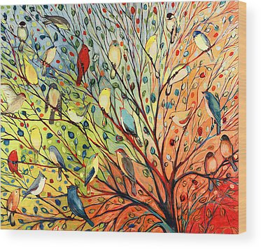 Bird Paintings Wood Prints