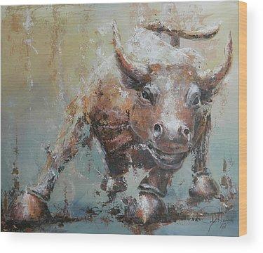 Bulls Wood Prints