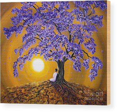 Jacaranda Tree Wood Prints