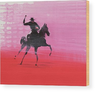 Red Horse Wood Prints