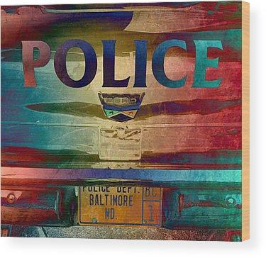 Patrol Car Wood Prints
