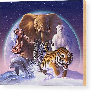 Tigers Wood Prints