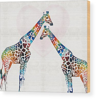 Animal Mother Wood Prints