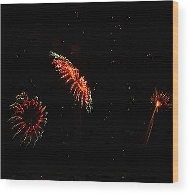 Fireworks Wood Prints