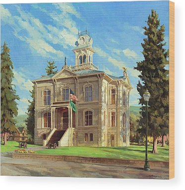 Courthouse Wood Prints