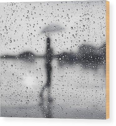Rain Drop Wood Prints