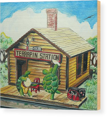 Terrapin Station Wood Prints