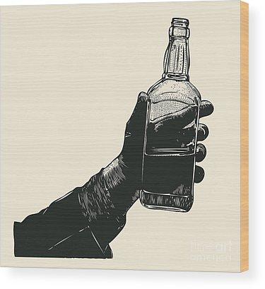 Alcoholism Wood Prints
