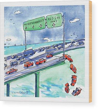 Highway Drawings Wood Prints