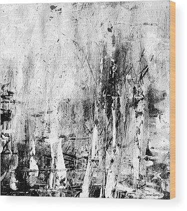 Blanco Y Negro Wood Prints