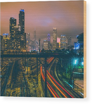 Chicago Skyline Wood Prints