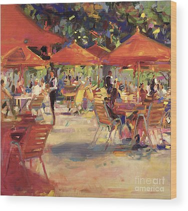 Fine Dining Restaurant Paintings Wood Prints