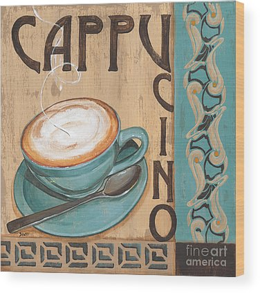 Cafe Wood Prints