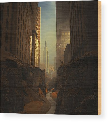 American Landmarks Wood Prints
