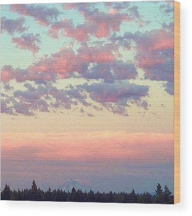 Cloud Wood Prints