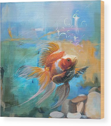 Goldfish Wood Prints