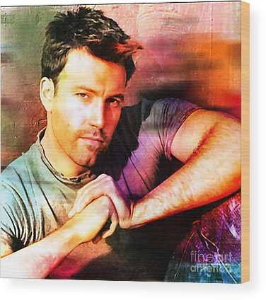 Ben Affleck Wood Prints