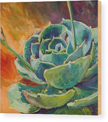Cactus Flower Wood Prints