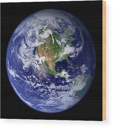 Earth Observation Wood Prints