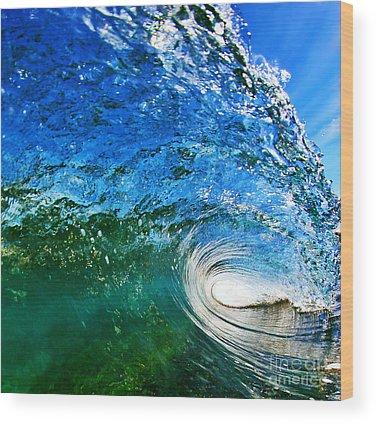 Surfers Wood Prints
